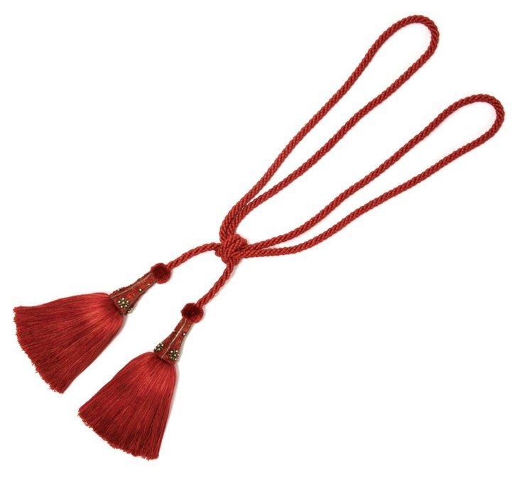 Hardwick Tassel Tieback, Red