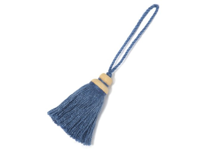 Jute Key Tassel, Blue