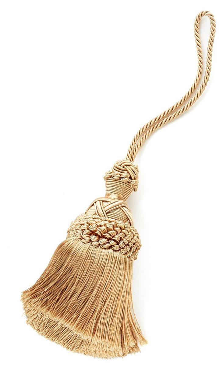 Grazay Key Tassel, Pale Gold