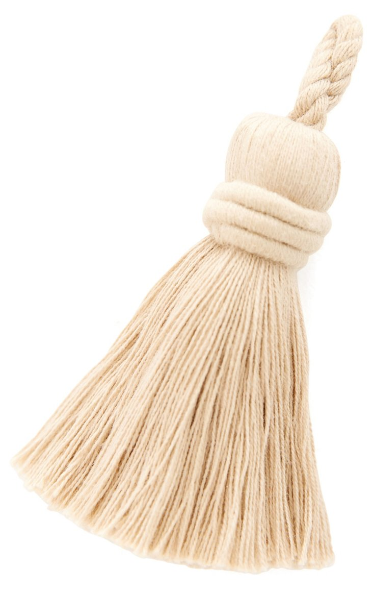 Litte Ballade Cotton Key Tassel, Cream