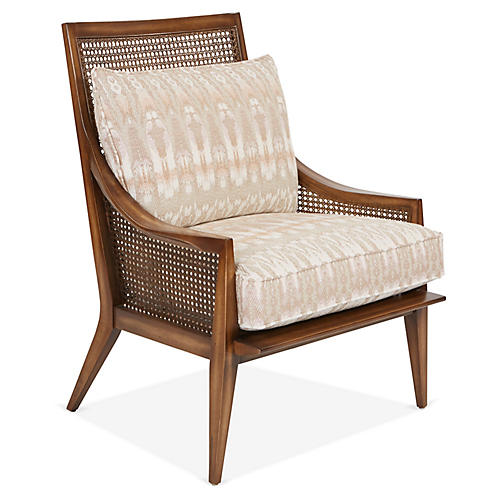 Clearwater Accent Chair, Blush/Beige
