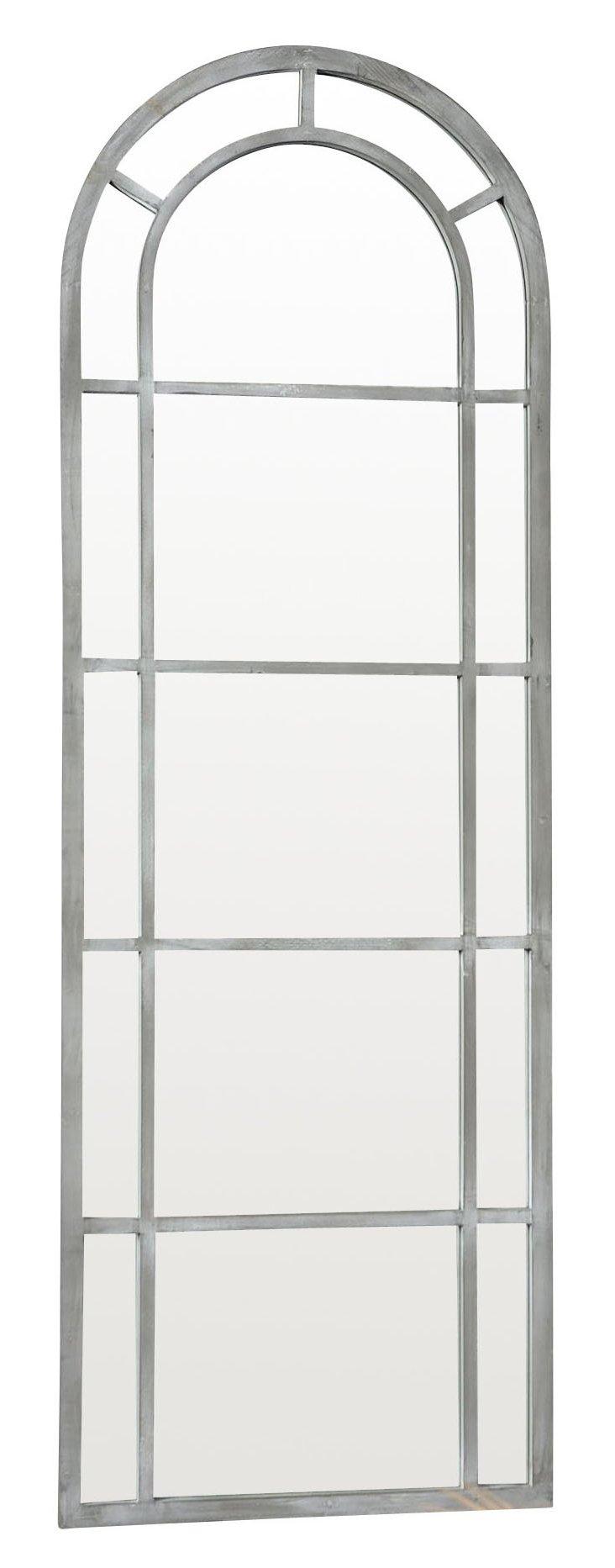 Charlize Floor Mirror, Gray