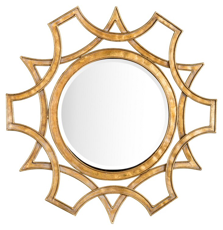 Gracie Wall Mirror, Gold