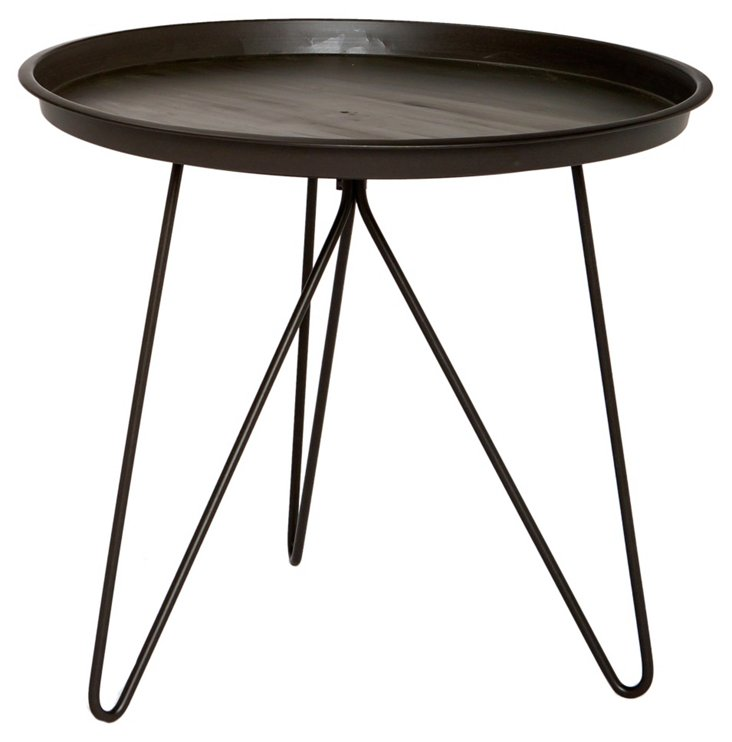 Brown Clinton Tray Table, Large