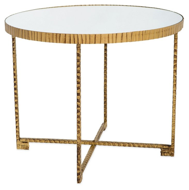 Jay Mirrored Table, Gold