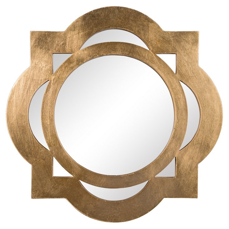 Tangier Wall Mirror, Gold