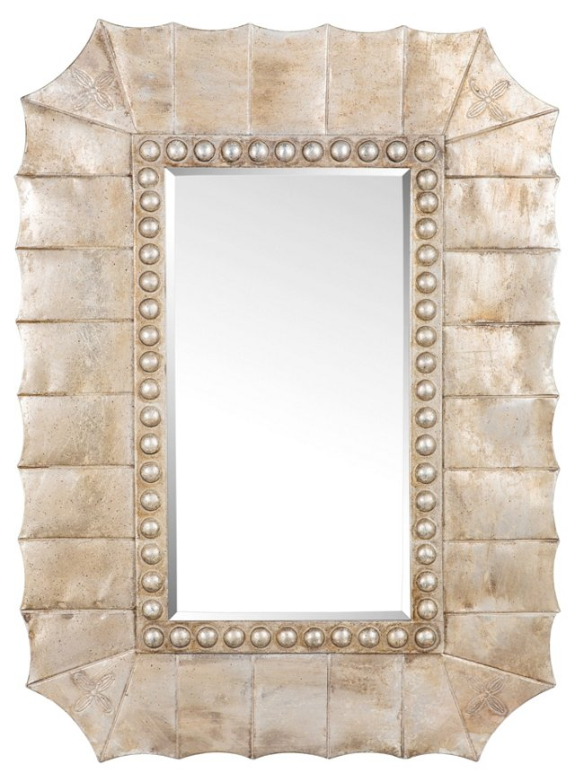 Lotus Oversize Mirror, Gold