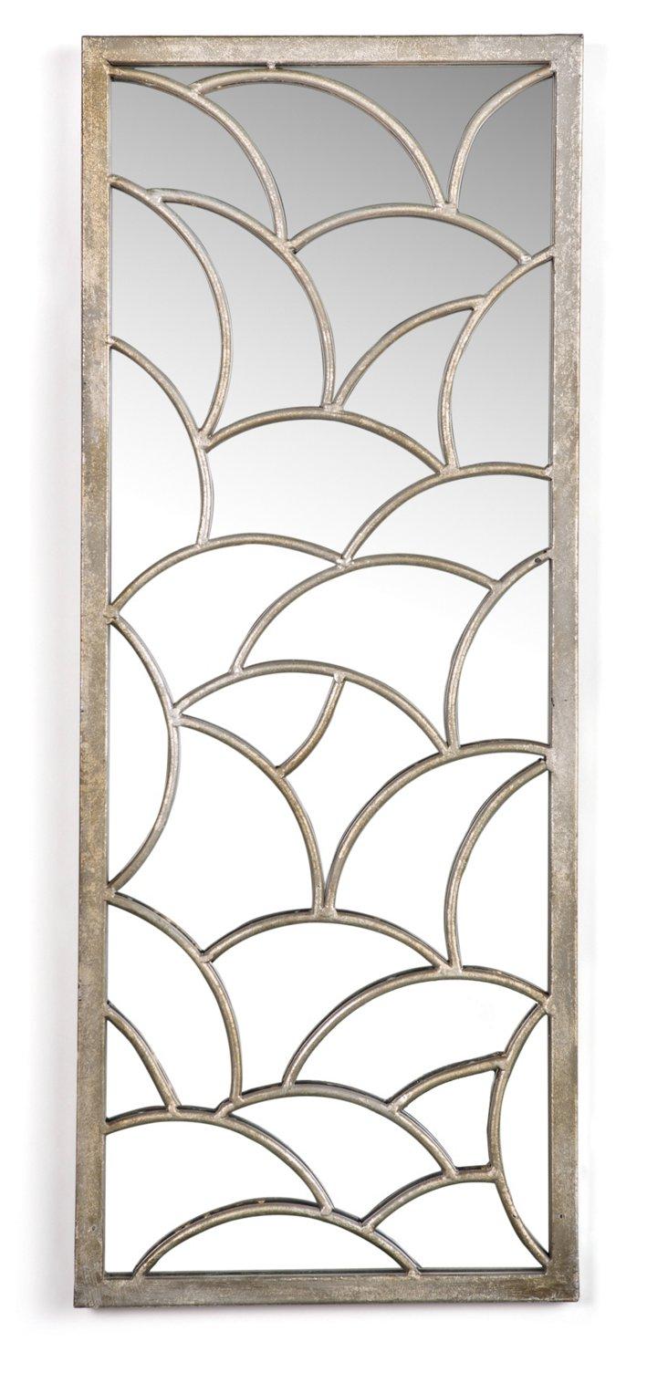 Theadora Wall Mirror, Silver