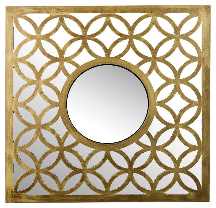 Ruby Wall Mirror, Gold