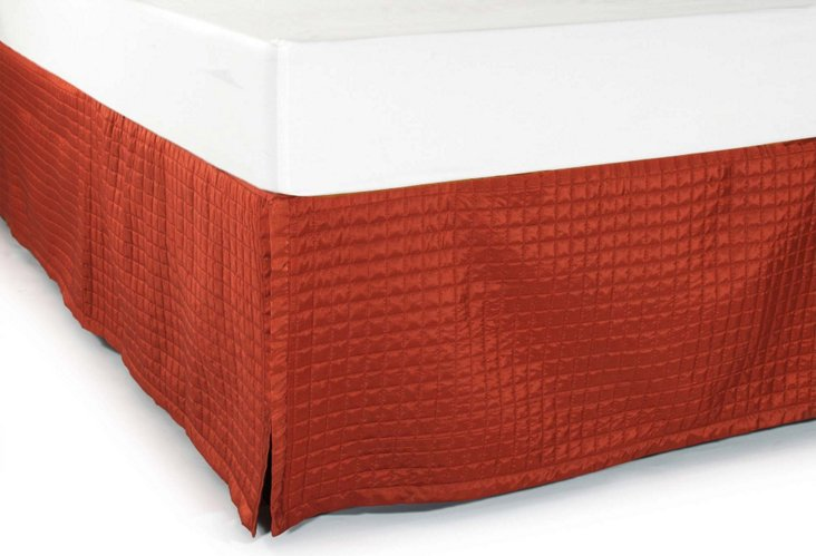 Quilted Bedskirt, Brick