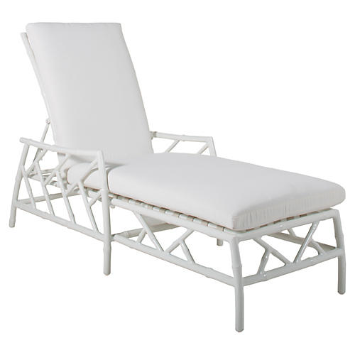 Coco Chaise Lounge, White