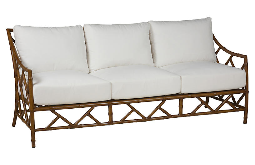 Kit Sofa, Sandalwood/White