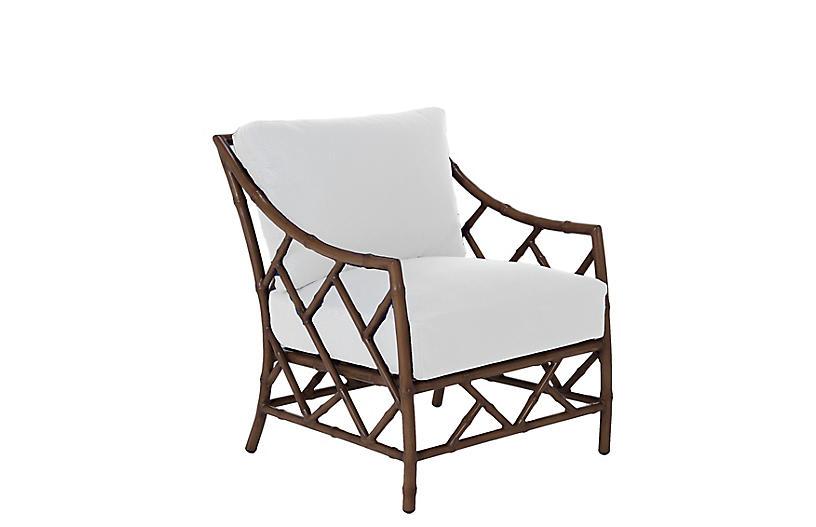 Kit Lounge Chair, Sandalwood/White