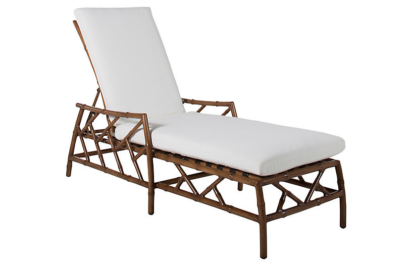 Kit Chaise, Sandalwood/White