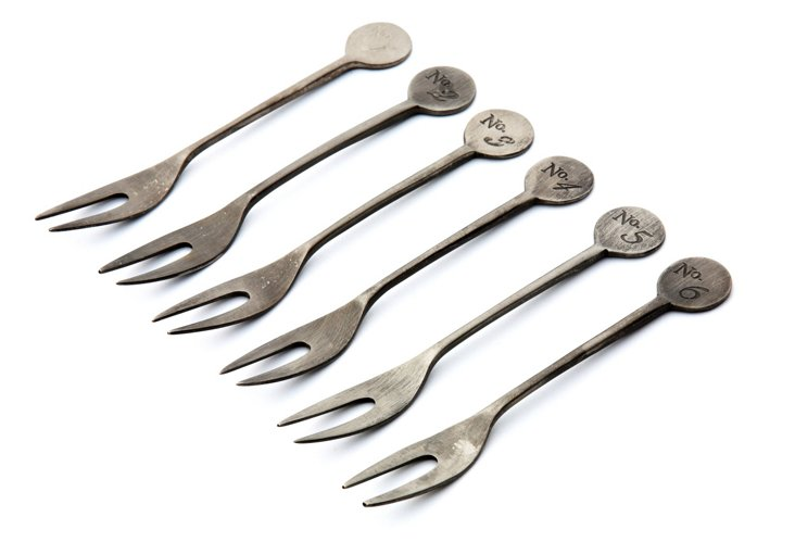 S/6 Numbered Party Forks