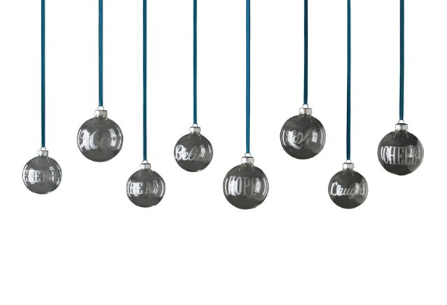 Asst. of 8 Inspired Ornaments
