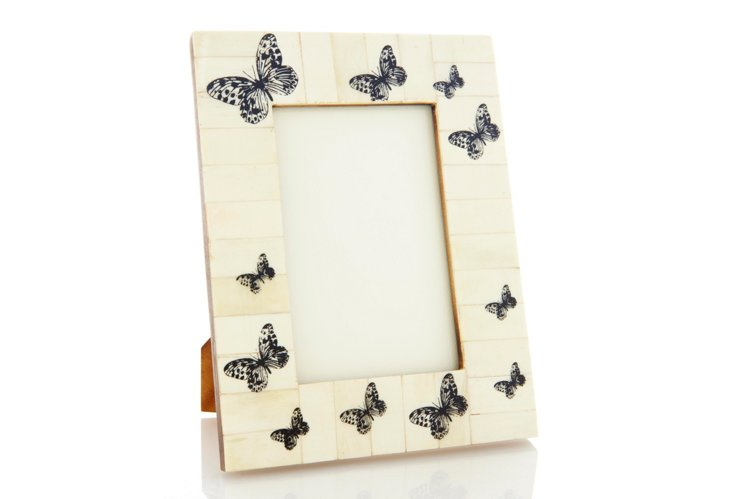 Butterfly Hand-Painted Frame, 4x6