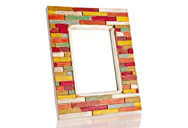 Slat Wood Frame, 5x7, Multi
