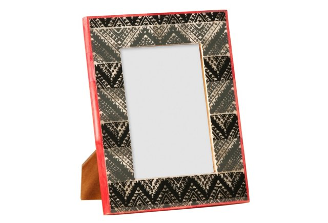 Block Picture Frame, 5x7, Gray