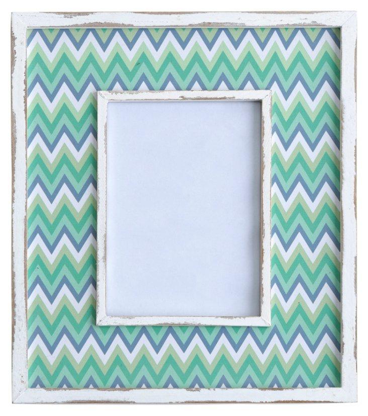 Wilmington Frame, 5x7, Green/White