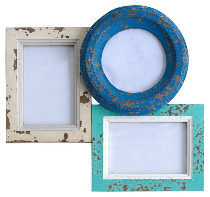 "14"" Newport Collage Frame, Blue"