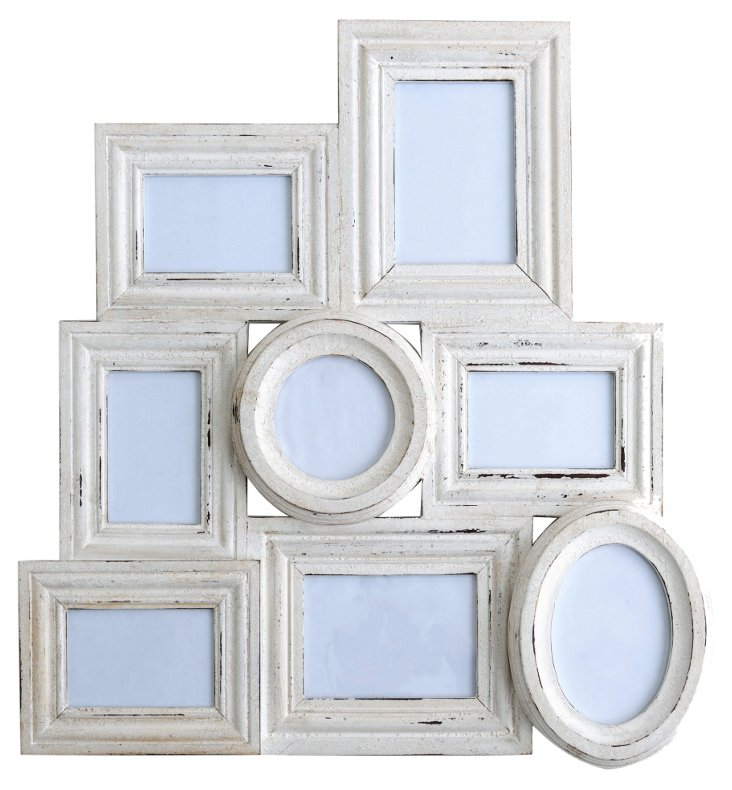 "27"" Newport Collage Frame, White"