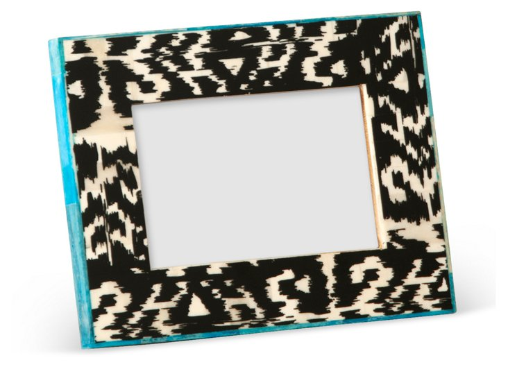 Ikat Frame, 4x6, Black