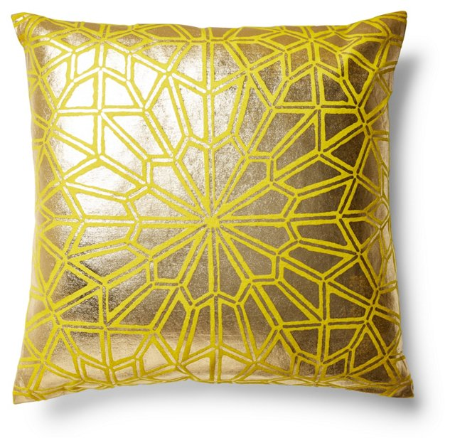 Moroccan 22x22 Pillow, Gold