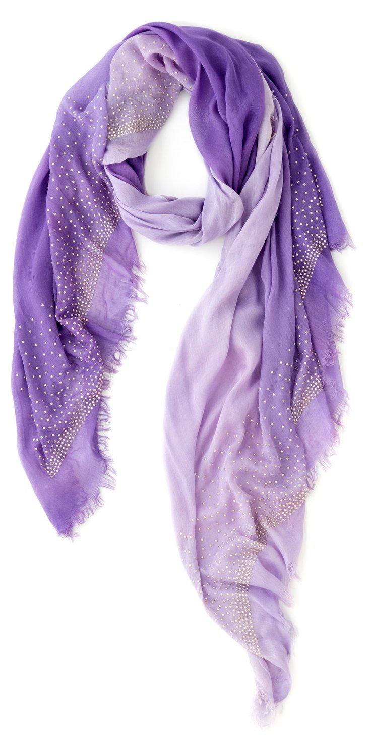Valentina Embellished Scarf, Lavender