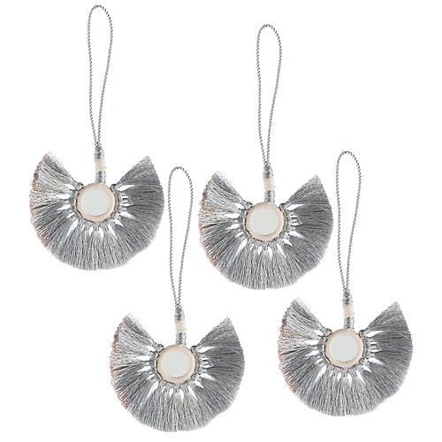 S/4 Nicola Ornaments, Silver