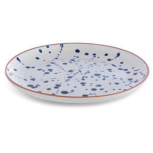 Porto Platter, White/Blue