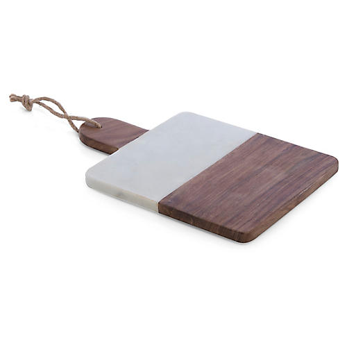 Piedmont Cheese Board, White/Brown