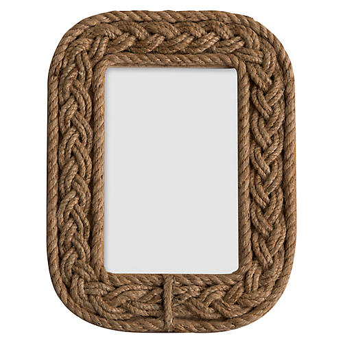 4x6 Hanover Rope Picture Frame, Natural