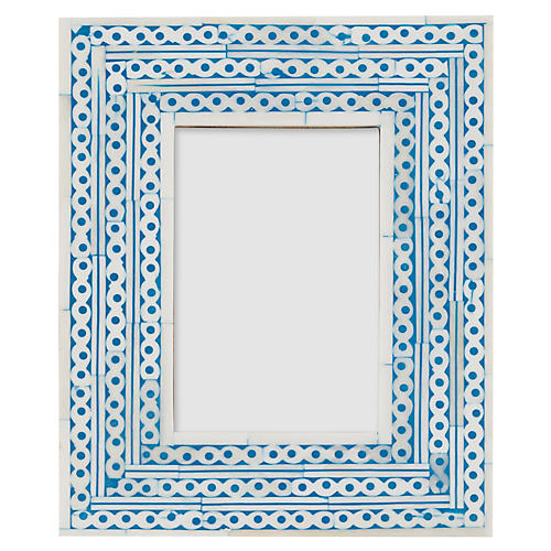 4x6 Maddox Inlay Picture Frame, Sky/Ivory