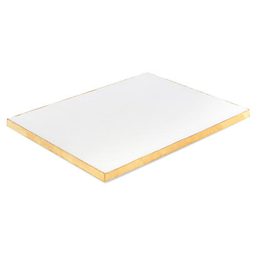 Batten Display Board, White/Brass