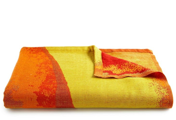 Leaf Reversible Throw, Red