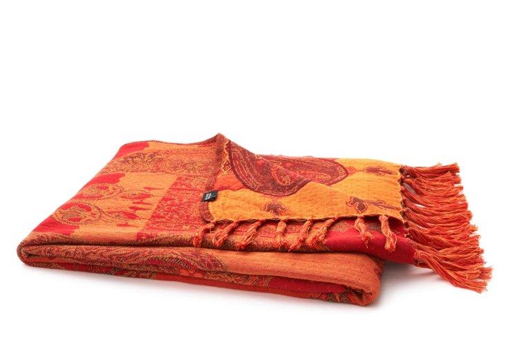 Porsa Throw, Red/Orange