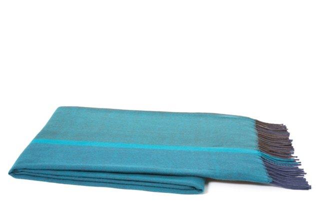 Gadar Throw, Teal/Blue