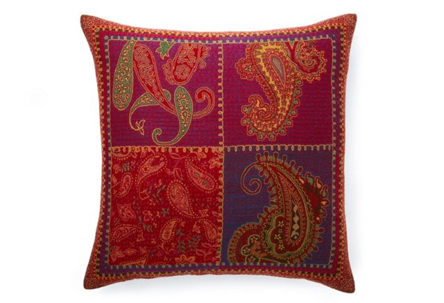 Paisley Two-Sided 26x26 Pillow, Multi