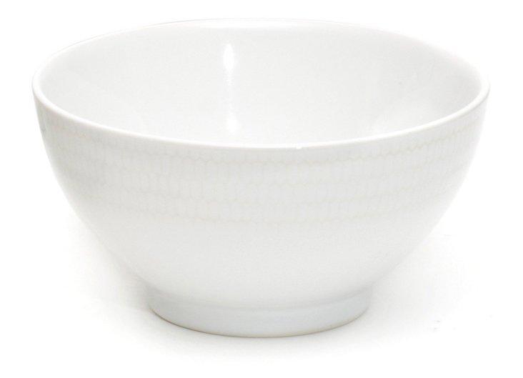 S/6 White Rice Noodle Bowls