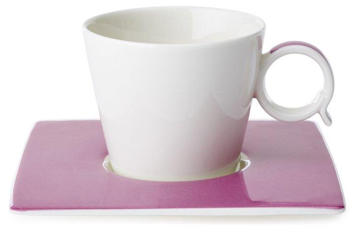 S/4 Espresso Cups Set, Violet