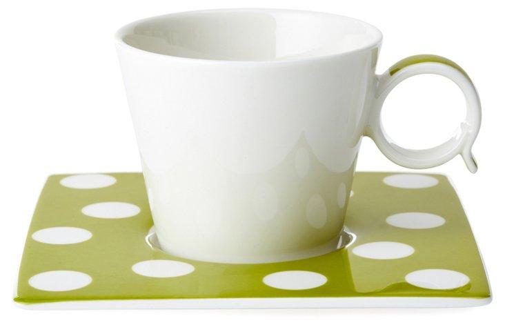 S/4 Espresso Cups Set, Olive
