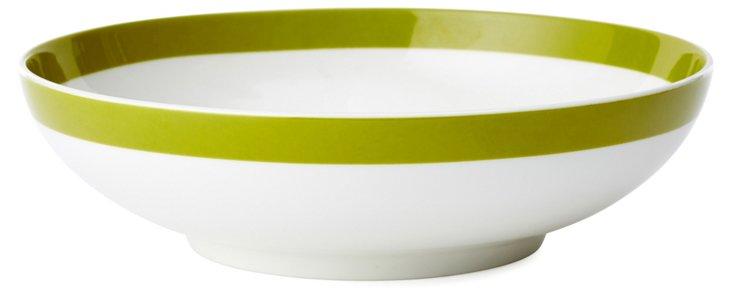 S/6 Porcelain Coupe Bowls, Olive