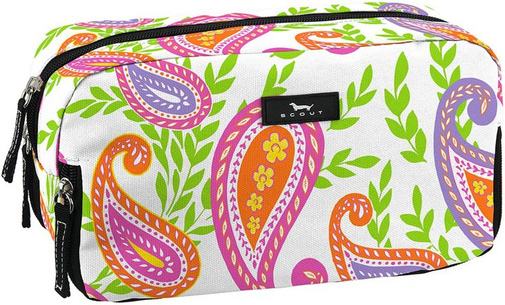 3-Way Cosmetic Case, Pink/Green