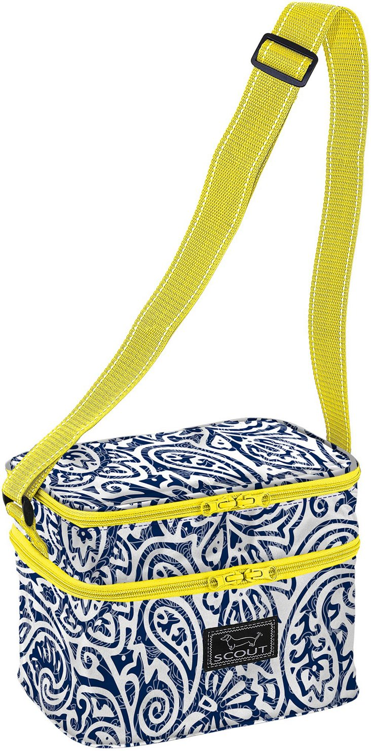 Insulated Lunch Bag, Blue Paisley