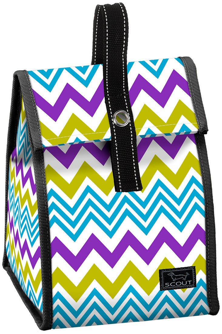 Insulated Lunch Tote, Zigzag