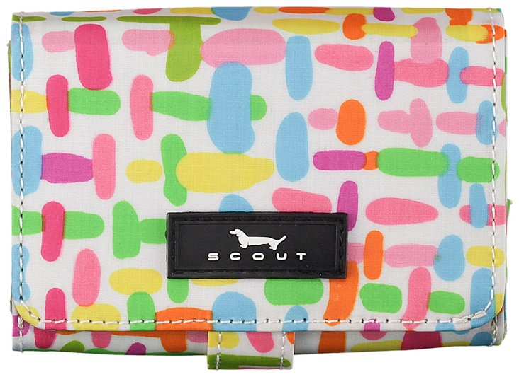 Wallet with Snap Closure, Geo