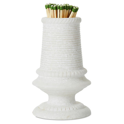 "5"" Marble Match Striker, White"