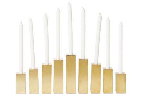 Asst. of 9 Brass Candlesticks