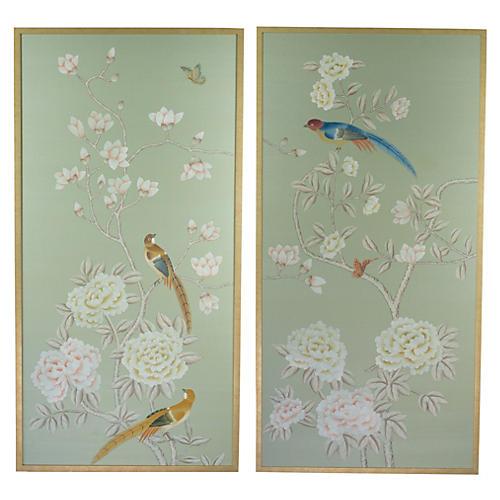 Jardins en Fleur, Magnolias on Celedon